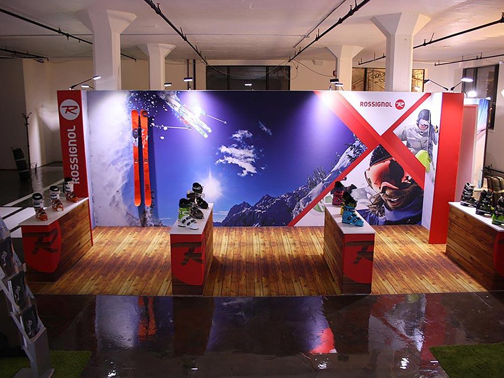 Rossignol modular exhibition stand