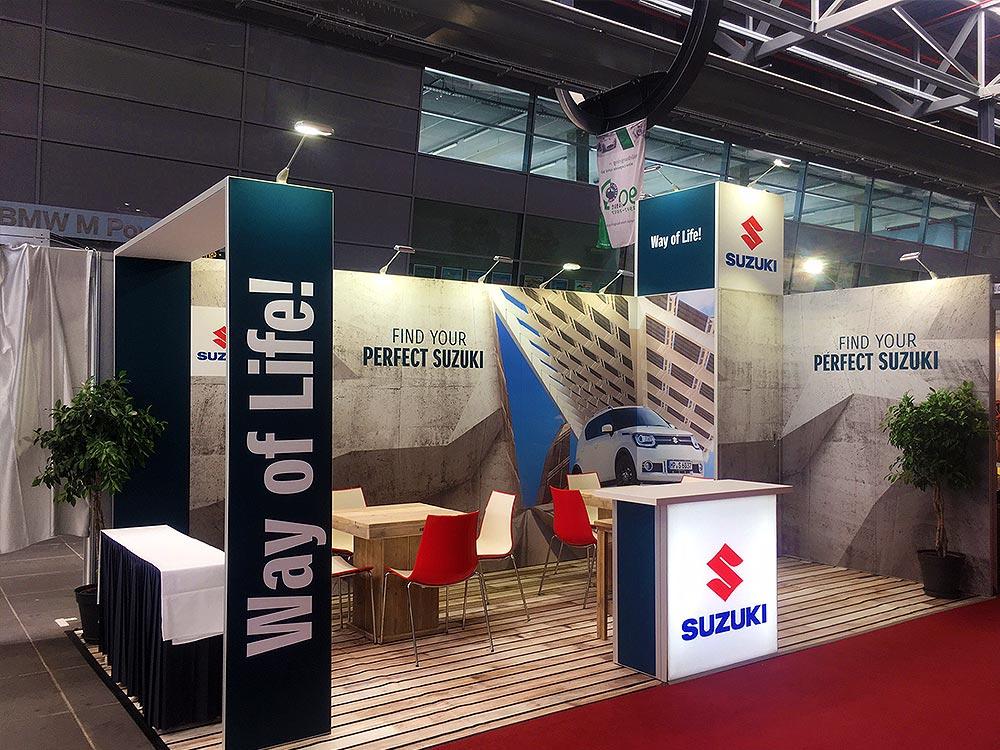 Suzuki modular exhibition stand